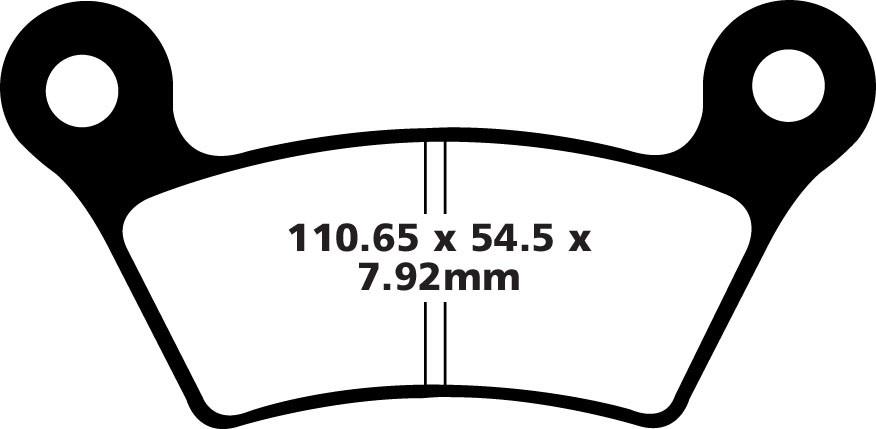 Piduriklotsid EBC-FA473