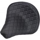 BILTWELL SOLO 2 SEAT DIAMOND PATTERN BLACK