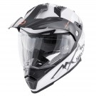 Full-face helmet HEVIK MONTAUK White / Silver