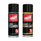 VROOAM chain care set (cleaner 0.4L + clear chain lube 0.4L)